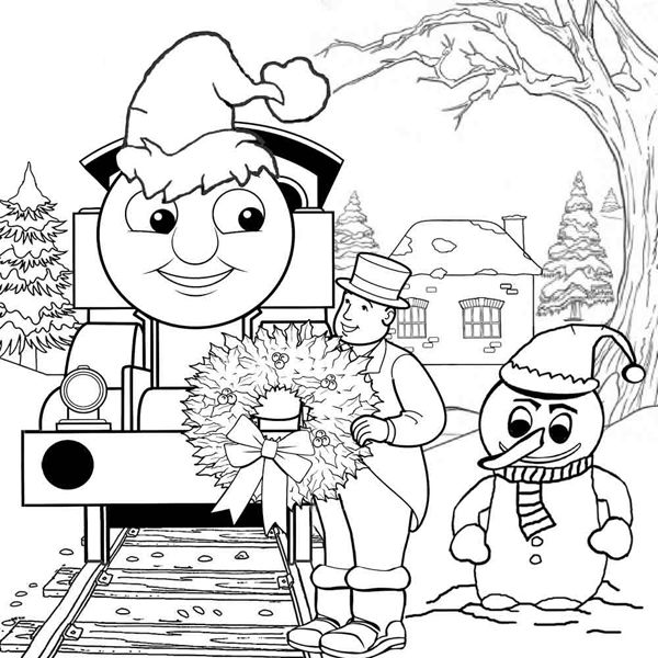 Thomas Train Coloring Pages Train Coloring Pages Coloring Pages Winter Merry Christmas Coloring Pages