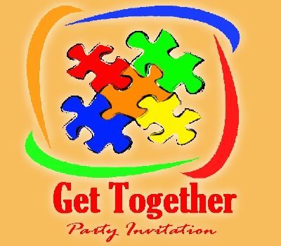 The news of Get together fills the body with new energy and the - get together invitation template