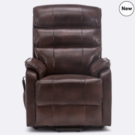 Marlow Leather Rise Recliner Chair In Brown Recliner Chair Power Recliners
