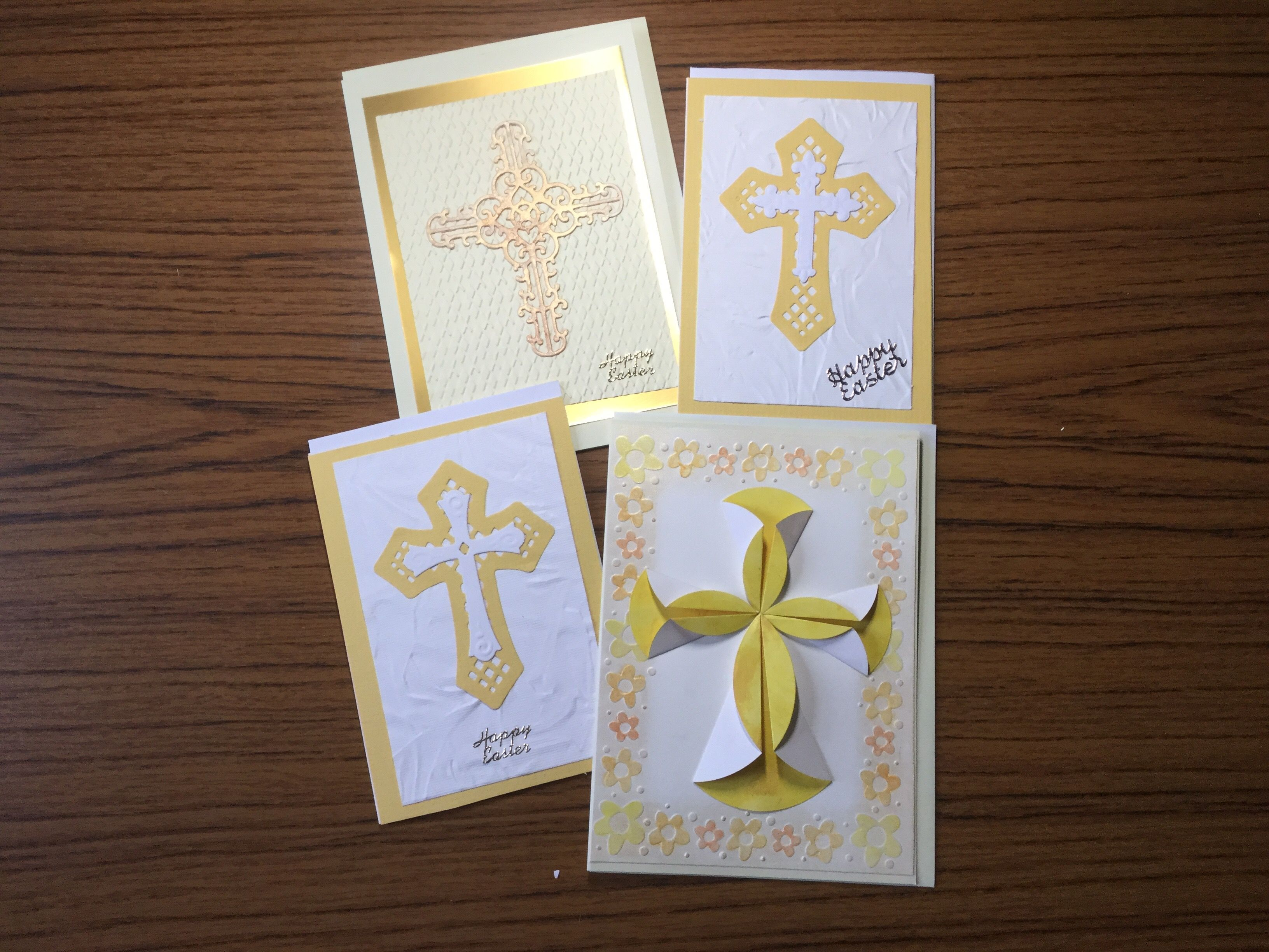 some more easter cards using a variety of techniques die cutting