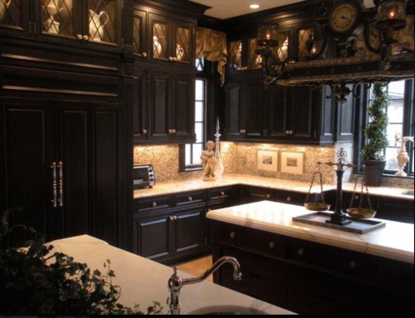 Black gothic kitchen. & Favorite Colored Kitchen Cabinets | Darque Decor: Dining \u0026 Kitchen ...