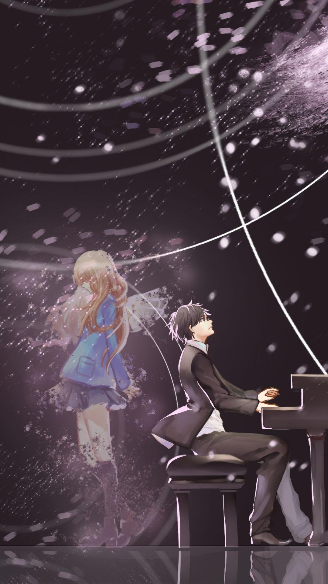 Anime couple, manga couple, beautiful night Star art