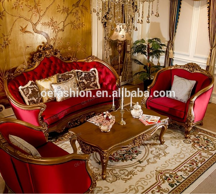 Oe Fashion Luxury Solid Wood Red Velvet Sofa Sets From China View Velvet Sofa Oe Fashion Product Details From Foshan Oe Fashion Furniture Co Ltd On Alibaba Muebles