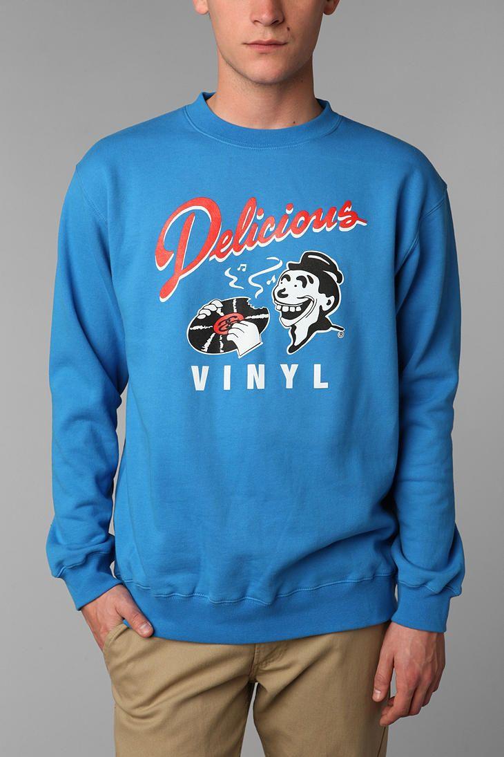 Stussy Delicious Vinyl Crew Sweatshirt Sweatshirts Pullover Sweatshirt Crew Sweatshirts