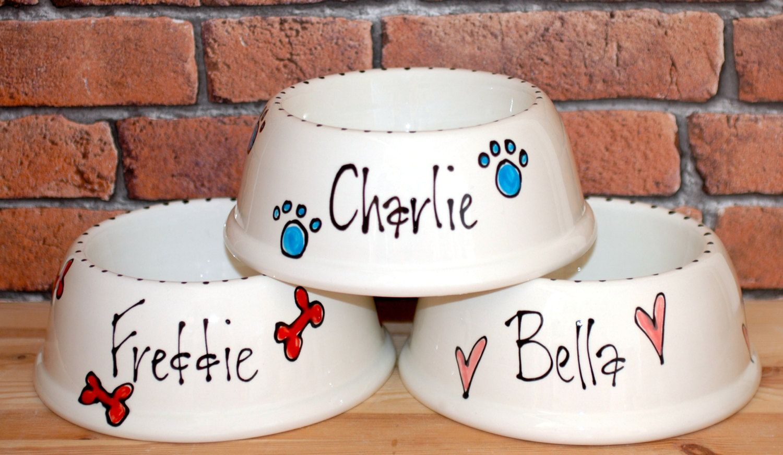Medium Slanted Dog Bowl Dog Bowl Ceramic Dog Bowl Dog Food Bowl Custom Dog Bowl Dog Feeder Personalised Dog Bowl Dog Bowls Dog Gift Ceramic Dog Bowl Dog Food Bowls Dog