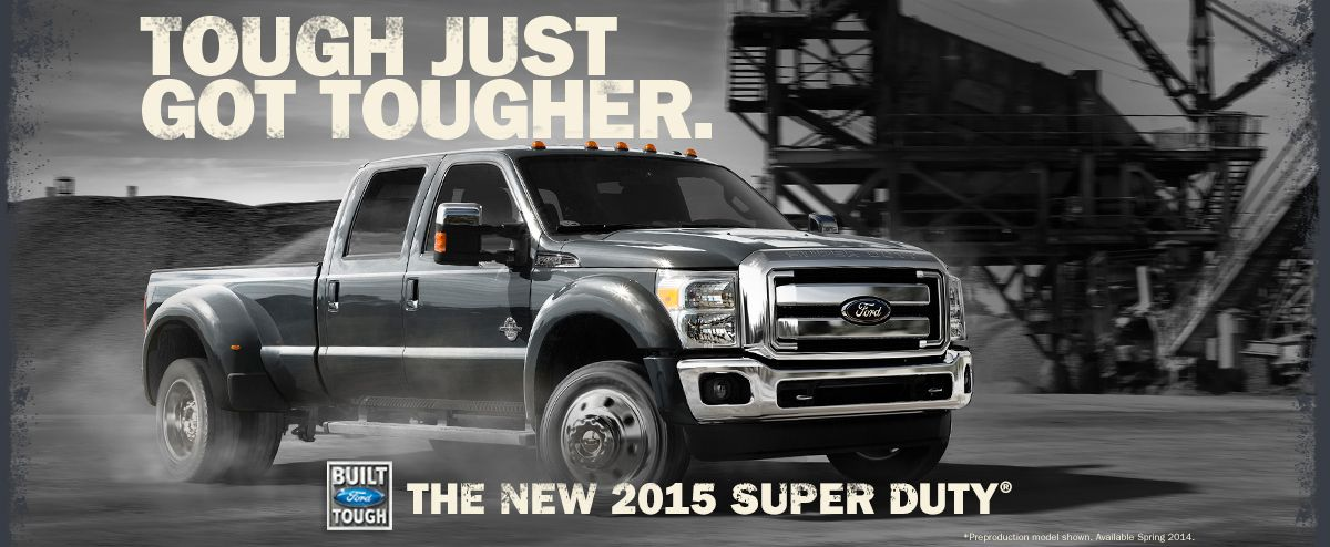 Tough just got tougher! The New 2015 Super Duty Jimmy
