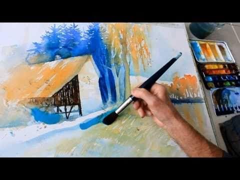 Eckard Funck Aquarell Malen Ohne Vorzeichnen 2 Watercolor