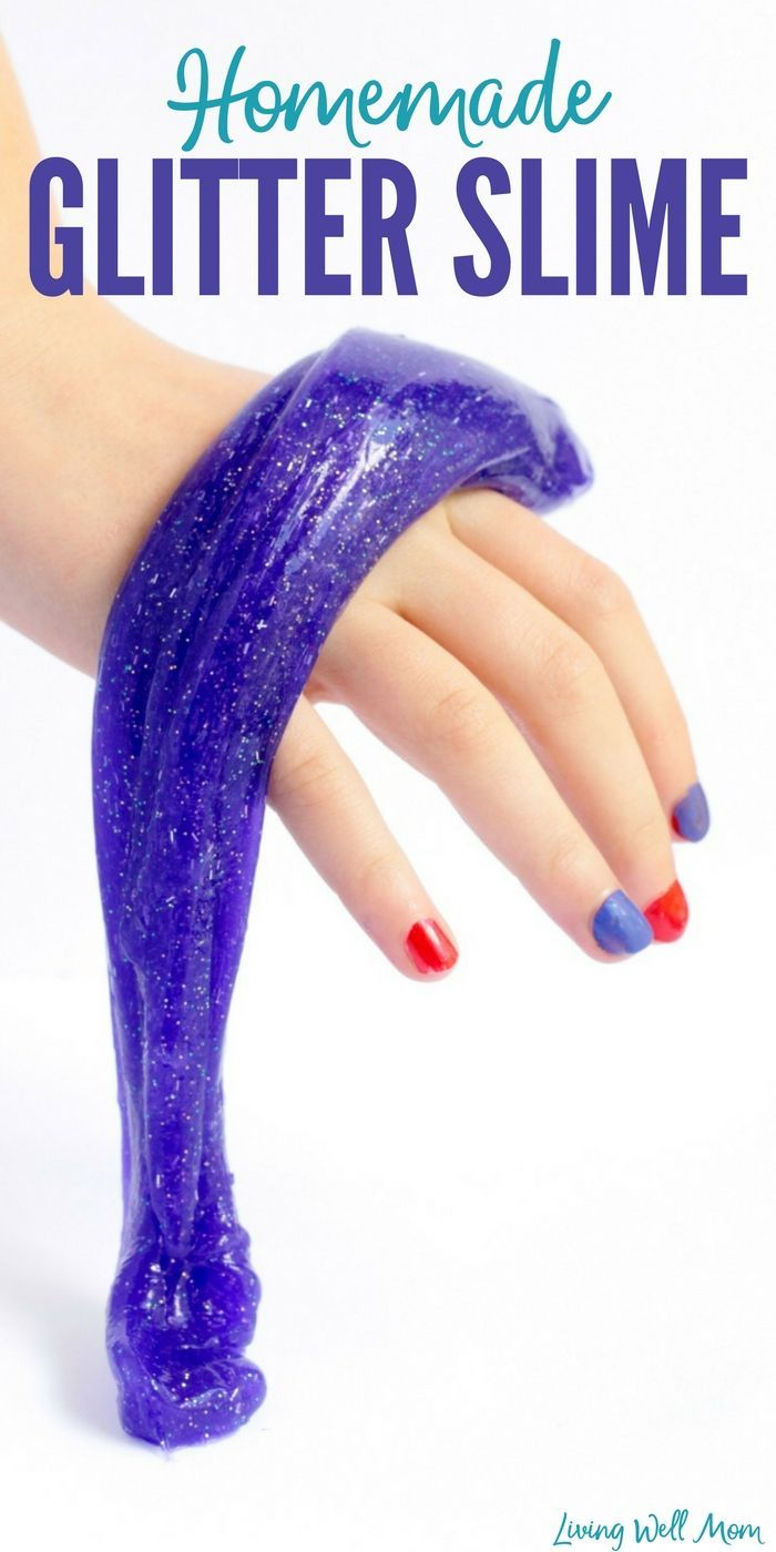How do you make glitter slime stretchy