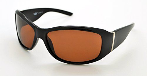 fc5fb4d240184 VOX Polarized Trendy Classic Mens Womens Hot Fashion Sunglasses wFREE Microfiber  Pouch Black Frame Brown Lens