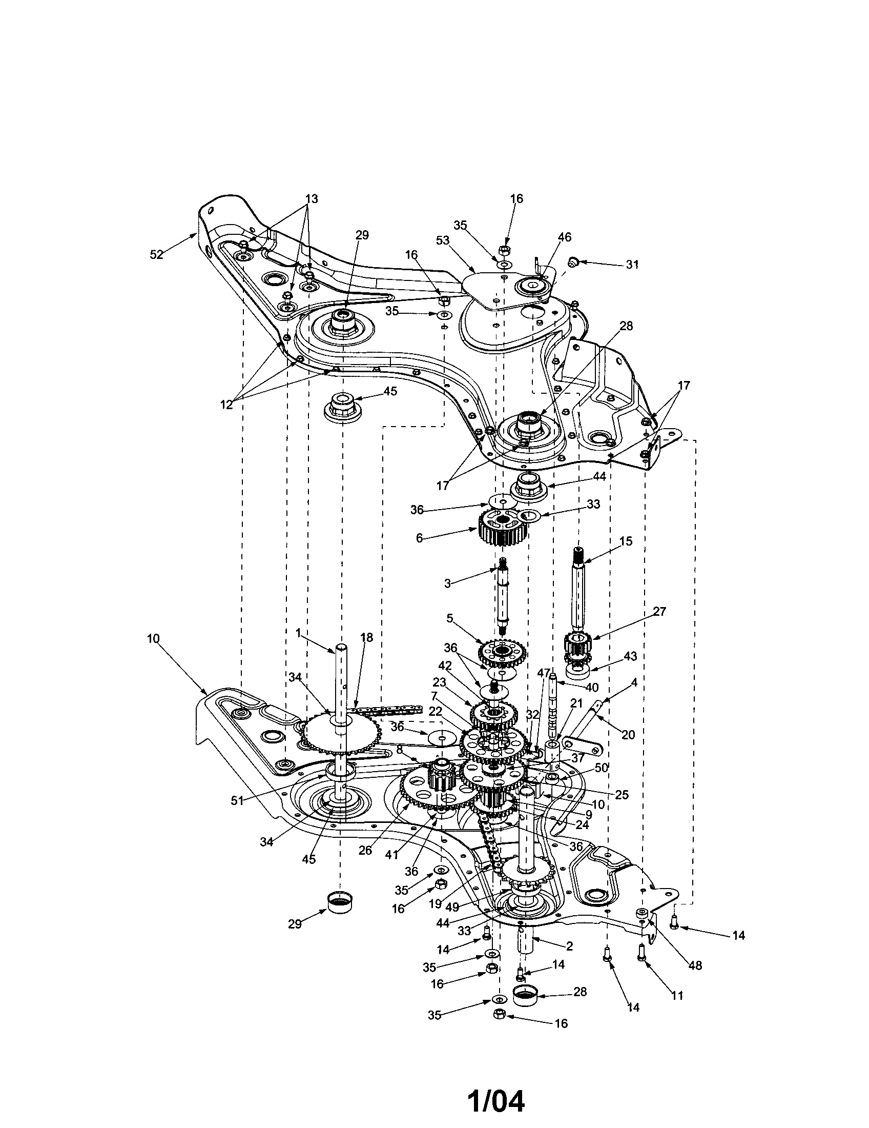Mtd Rear Tine Tiller Diagram Wheel Shaft Engine Assembly And Parts List For Lawnboy Walkbehindlawn
