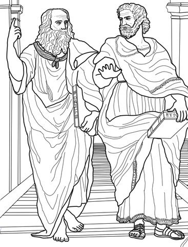Plato And Aristotle Coloring Page Free Printable Coloring Pages Coloring Pages Line Art Drawings Cool Coloring Pages