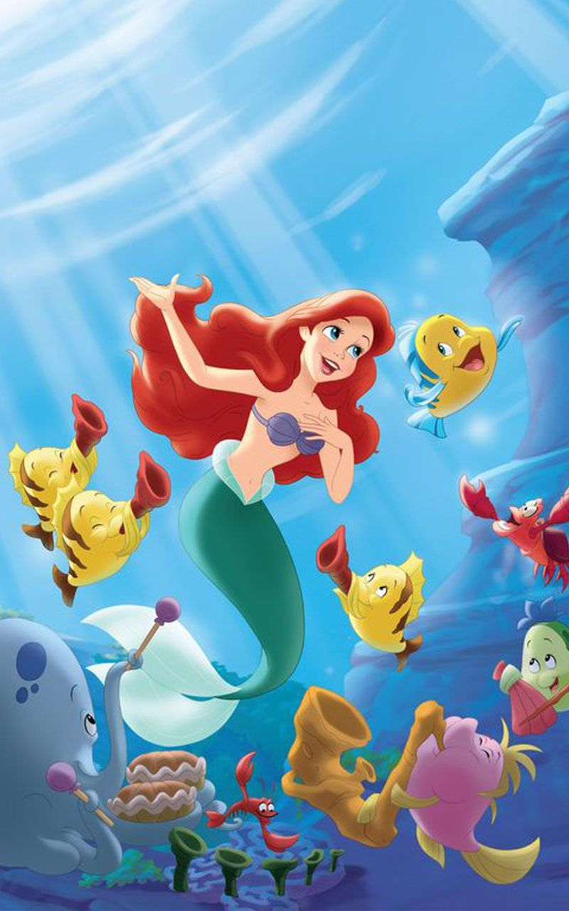 Ariel Mermaid Disney Princess Wallpaper Little Mermaid Wallpaper Mermaid Disney