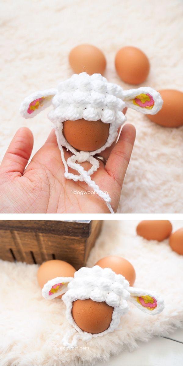 Easter Egg Mini Lamb Hat Free Crochet Pattern