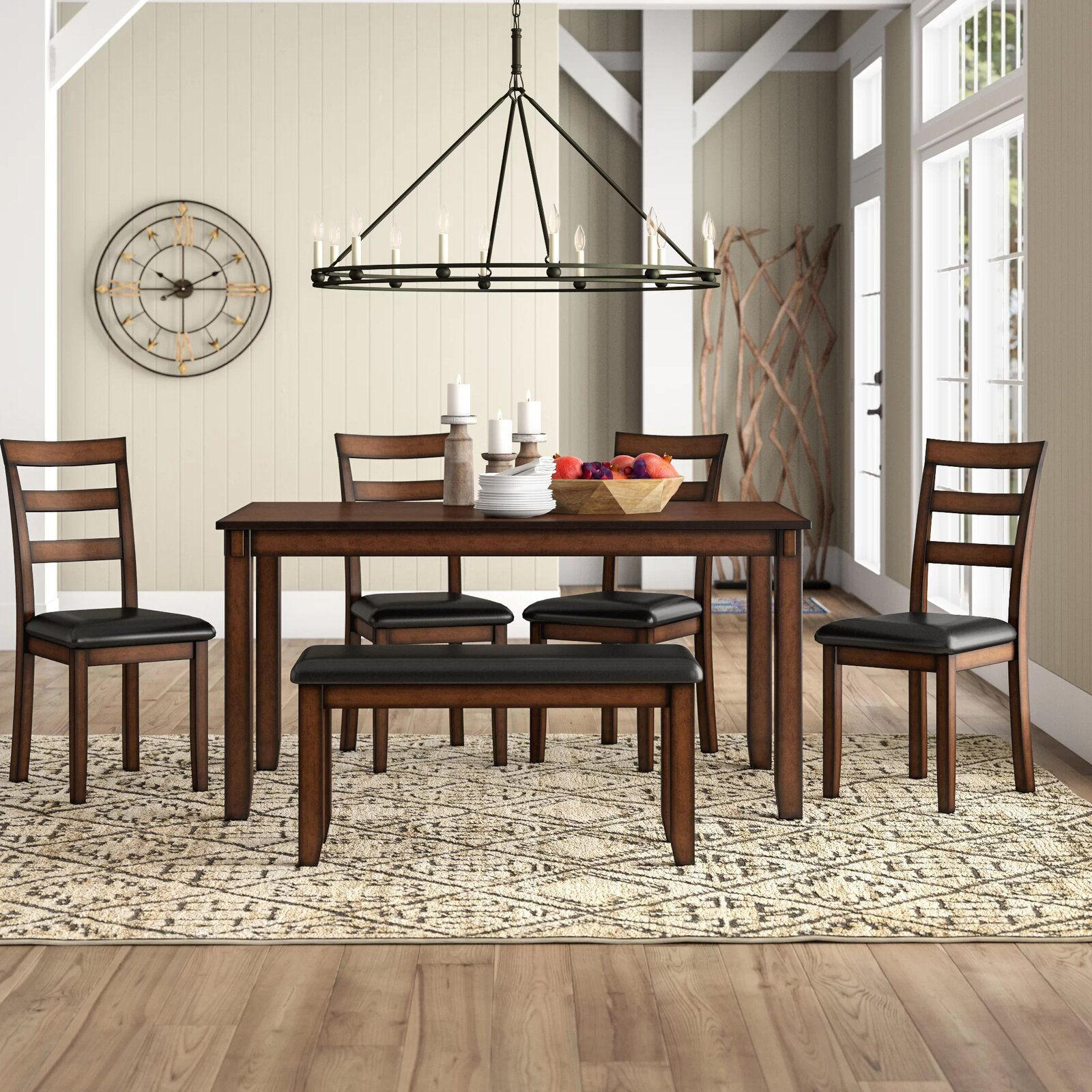 Carolina 6 Piece Dining Set Nook Dining Set Breakfast Nook Dining Set Dining Room Sets
