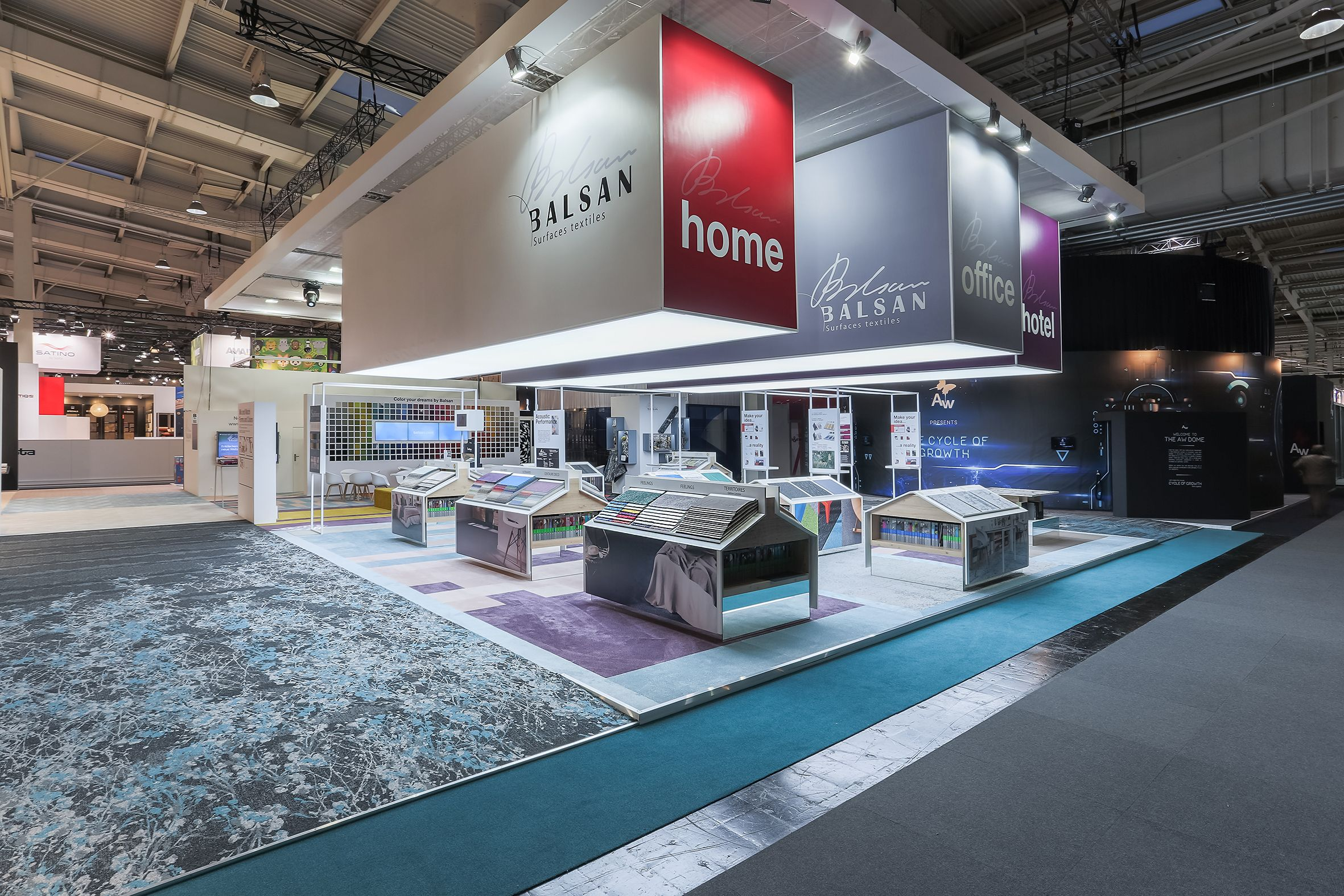 Balsan Domotex hanovre fair stand design interior