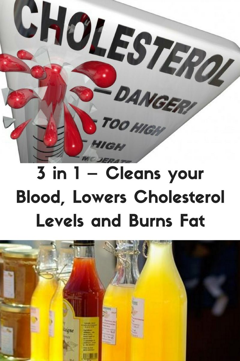 3 in 1 – Cleans your Blood, Lowers Cholesterol Levels and Burns Fat