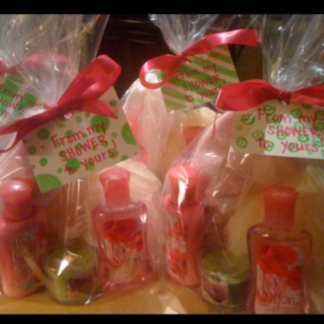 Baby Shower Hostess Gifts! My Shower Colors Were Pink And Green!