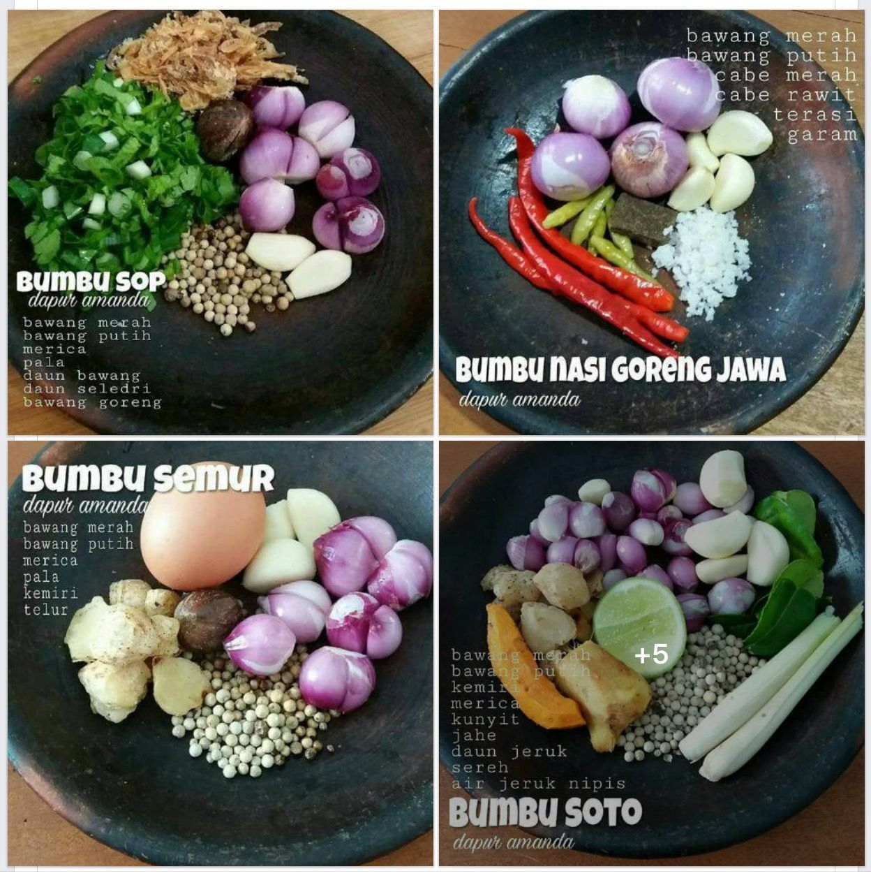 Bumbu Macam Ide Makanan Resep Makanan Asia Resep Makan Malam