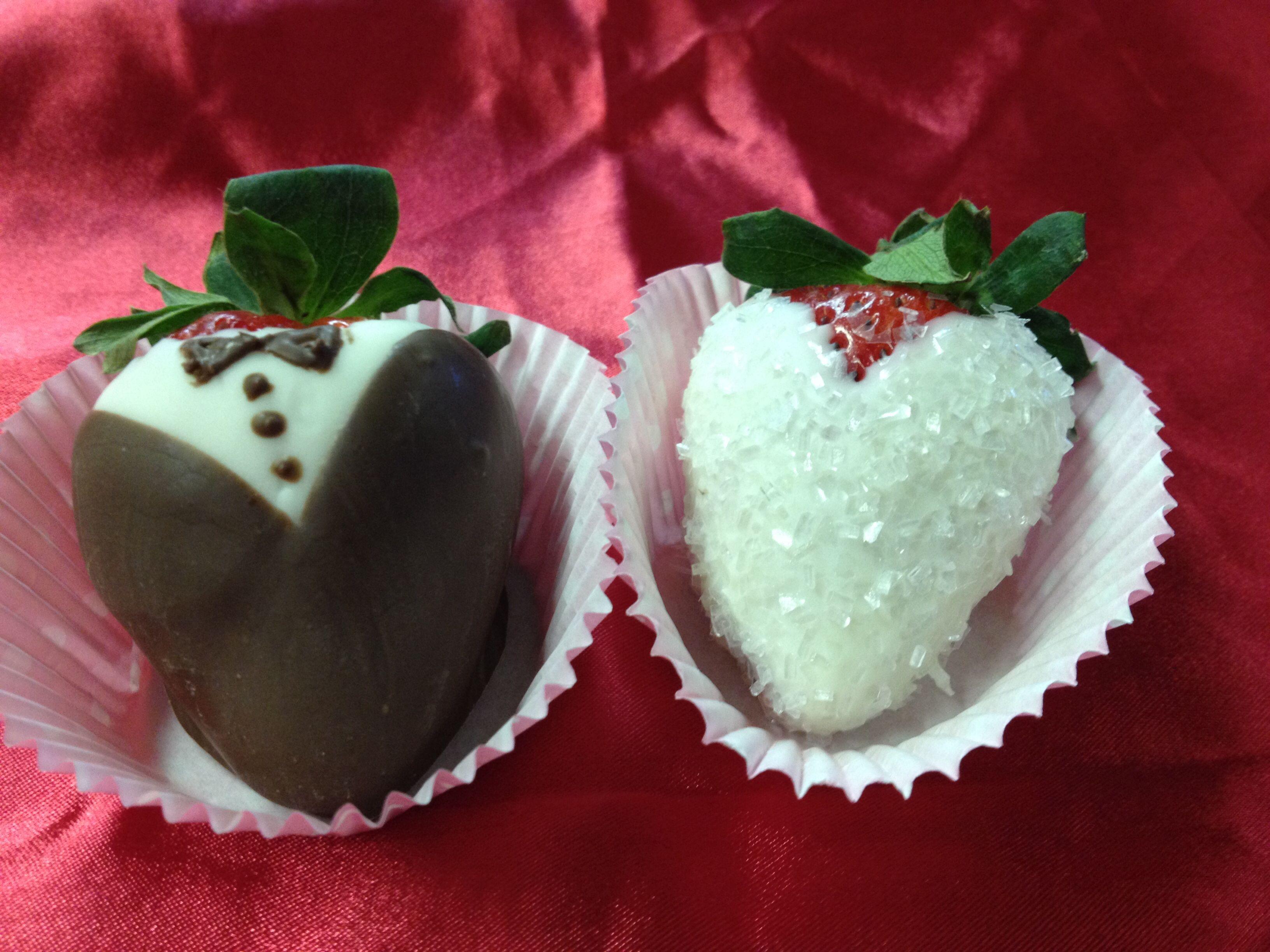 Bride Groom Strawberries
