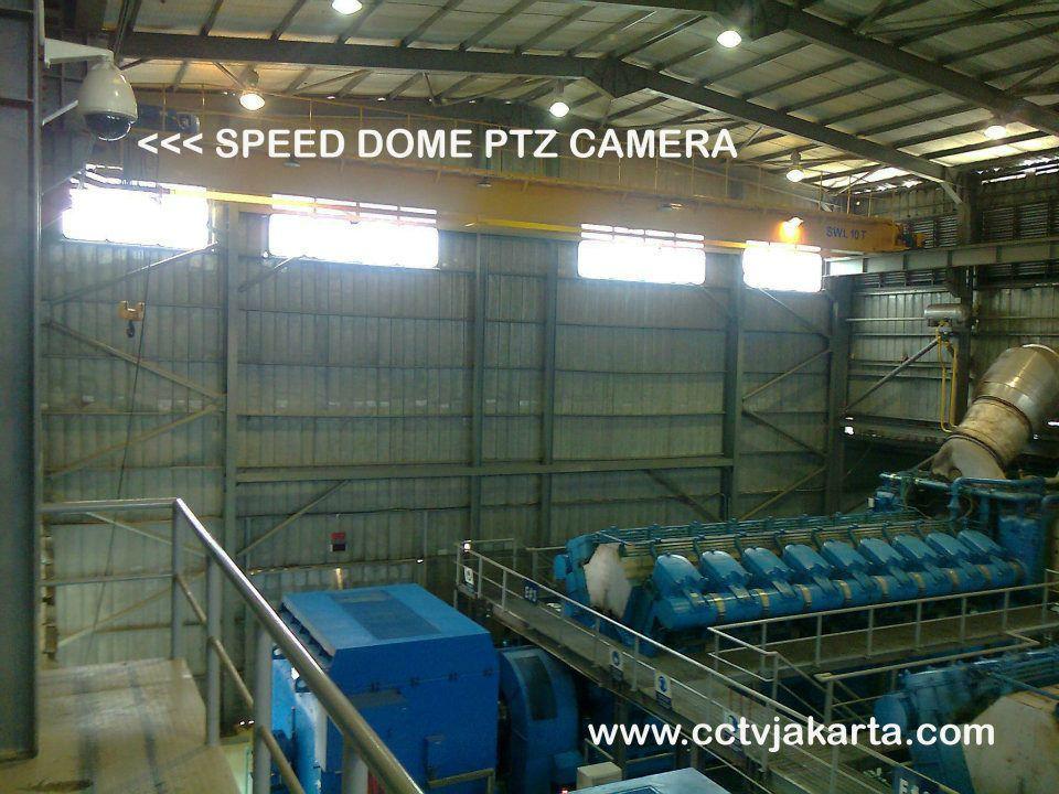Pemanfaatan speed dome ptz camera untuk industry,  camera ini bisa secara manual dikendalikan oleh operaor untuk menggerakan dan zoom, juga dapat secara otomatis bergerak dan zoom keberapa arah sesuai program. more info www.cctvjakarta.com