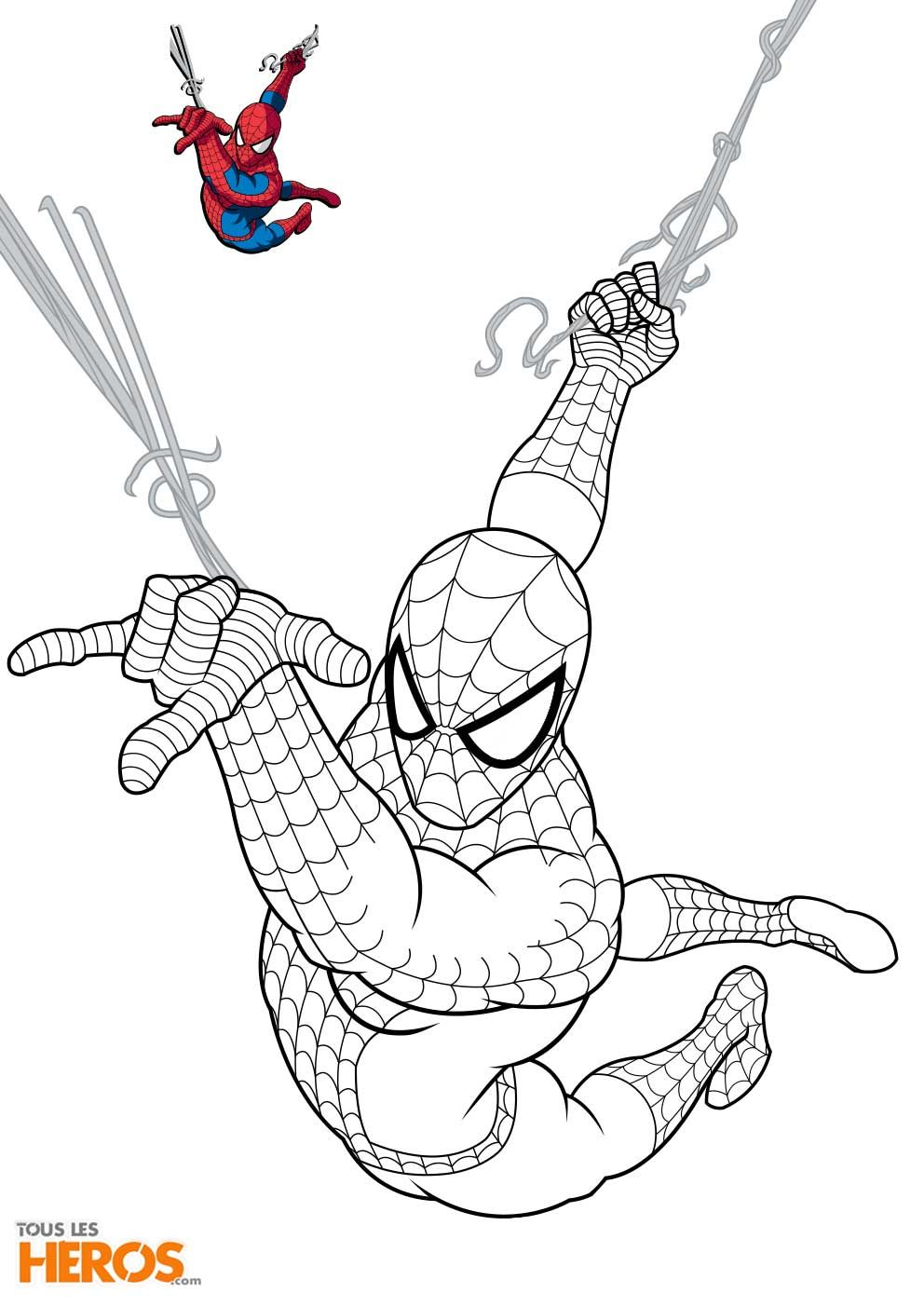 Coloriages Spiderman à Imprimer Sur Le Blog De Tlh Coloring