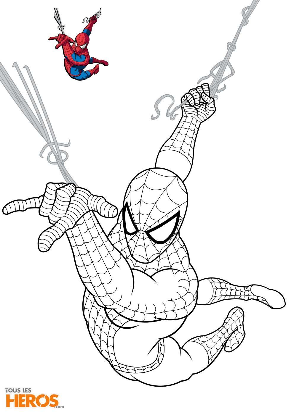 Coloriage spiderman, Coloriage batman, Coloriage à imprimer gratuit