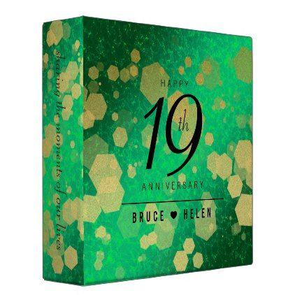 Natural Jade 35th Wedding Anniversary Binder Anniversary