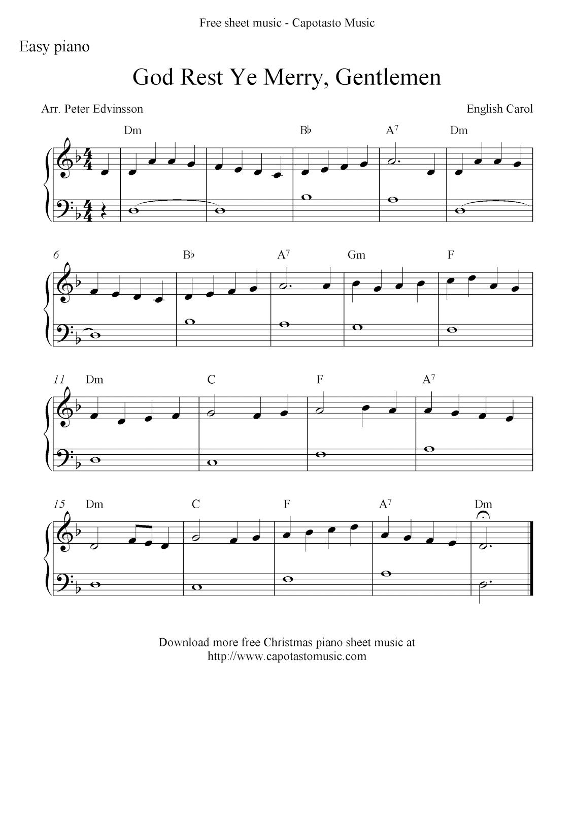 Free Sheet Music Scores Free Christmas Piano Sheet Music Score God Rest Ye Merry Gentlemen Ukulele Tabs Christmas Ukulele Ukulele Songs