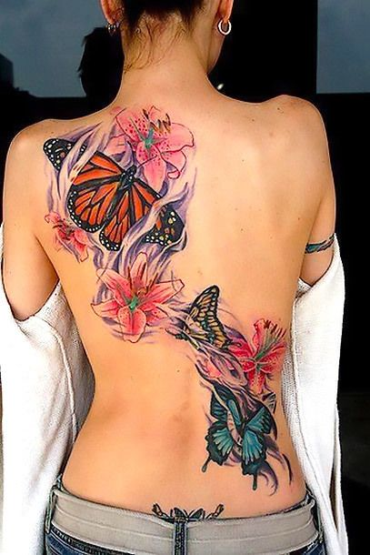 Photo of Butterfly Tattoos on Back Tattoo Idea