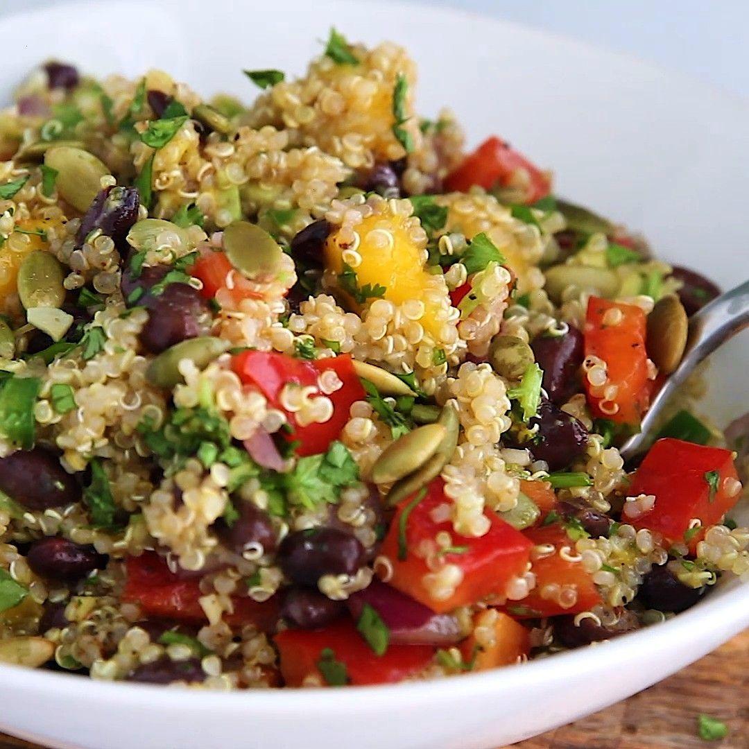 Mango Black Bean Quinoa Salad        This healthy mango black bean quinoa salad with avocado will b
