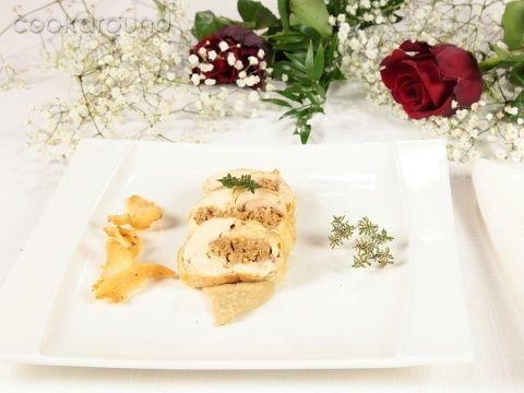 Galletto ripieno con salsa ai porcini | Cookaround