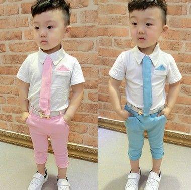 e4eda30f4a137 2 color 2017 Children s suits baby boy suit suit dress suit shirt tie +  pants suit two sets 1-5 years old free shipping