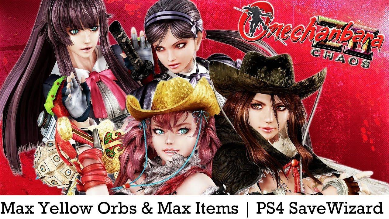 Ps4 Onechanbara Z2 Chaos Max Yellow Orbs Max Items Ps4
