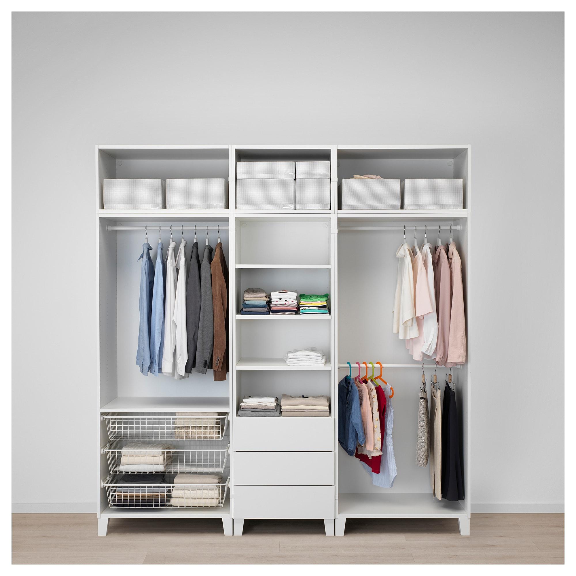 Platsa Kleiderschrank Weiss Sannidal Ridabu In 2020 Ikea Schrank