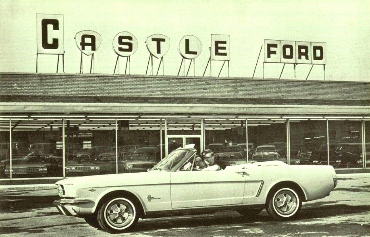 Mustang Dealer Castle Ford Vintage mustang, Car
