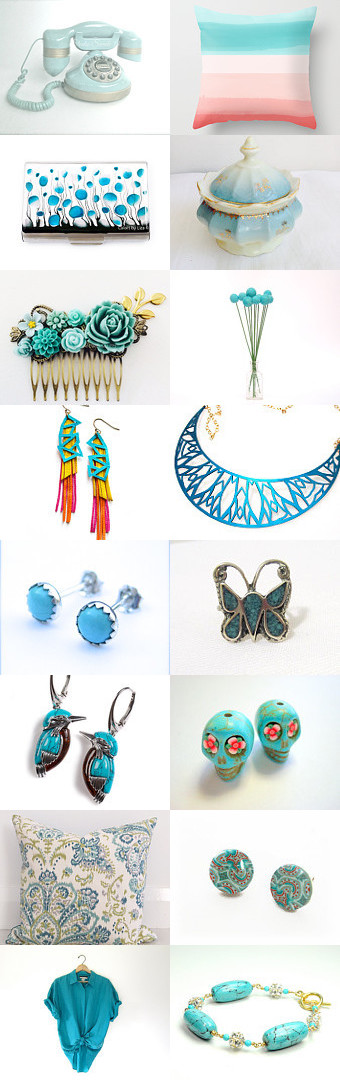 ~~ Turquoise gifts 2015 ~~ from Marina by Marina on Etsy--Pinned with TreasuryPin.com #blue #turquoise