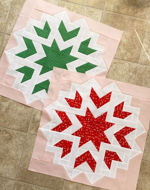 First Snow Quilt Along with Woodberry Way #starquiltblocks