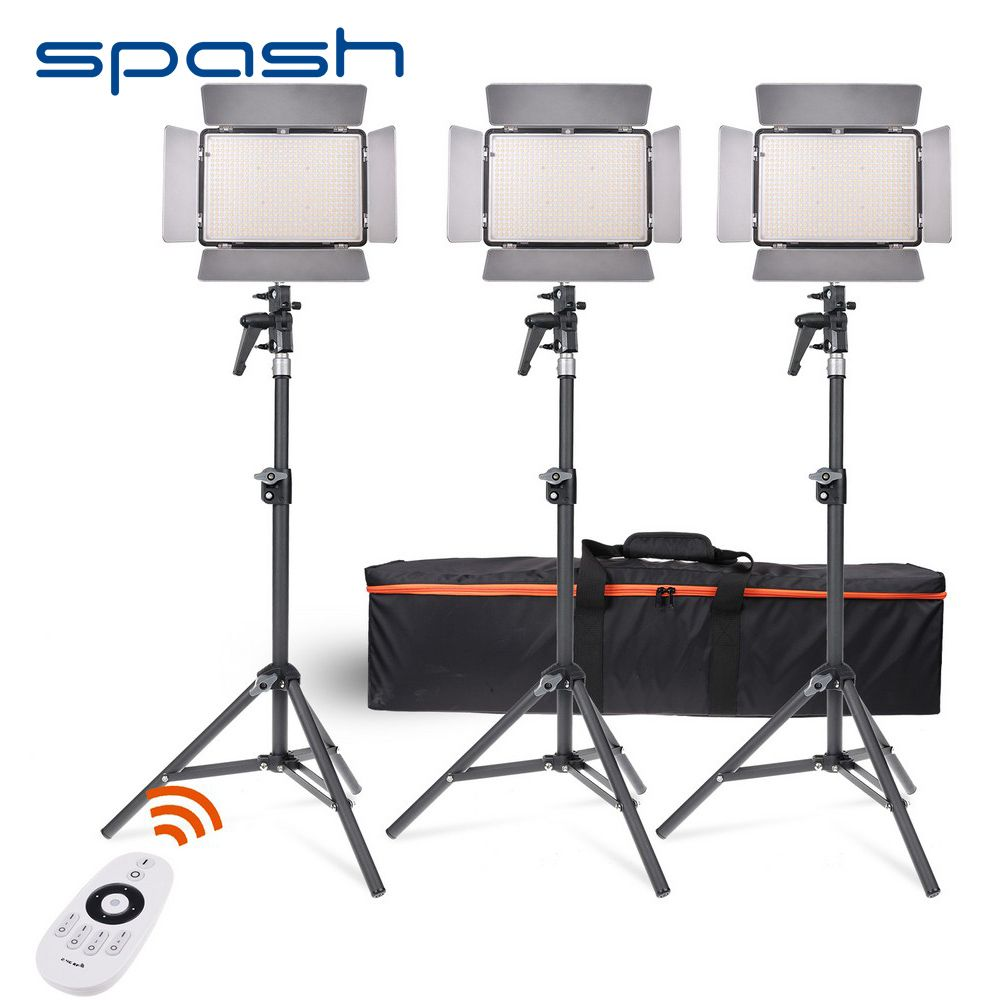 Find More Photographic Lighting Information About Spash Tl 600as Led Video Light 3 In 1 Kit Bi Color Dimmab Video Lighting Photographic Lighting Led Light Lamp