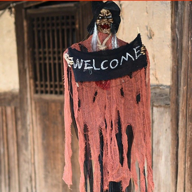 Details about Hanging Witch Halloween Haunted House Ghost Fly Prop