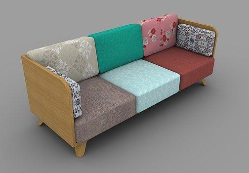 Divano Patchwork ~ Patch è un sistema di sedute realizzato dallo studio spagnolo