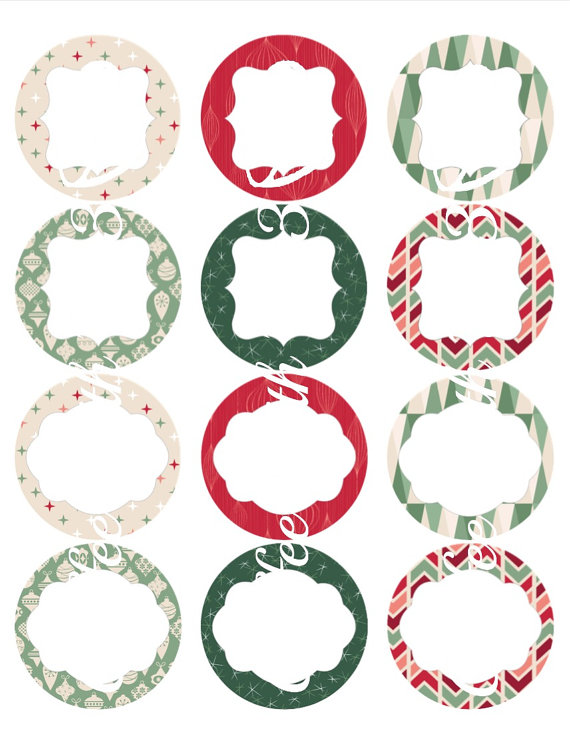 Christmas Canning Jar Labels Etsy In 2020 Canning Jar Labels Free Christmas Labels Round Christmas Labels
