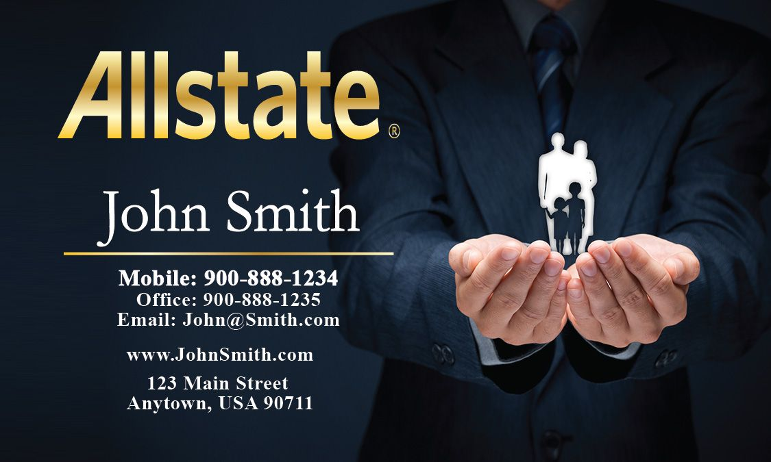Black Allstate Business Card Design 201231 Business Card