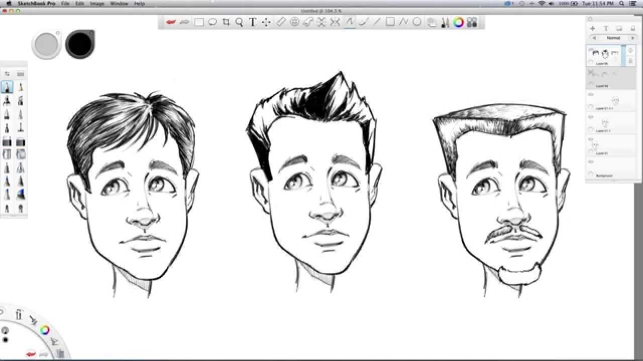 How To Draw Hair Sketchbook Pro Tutorial Video Narrated By