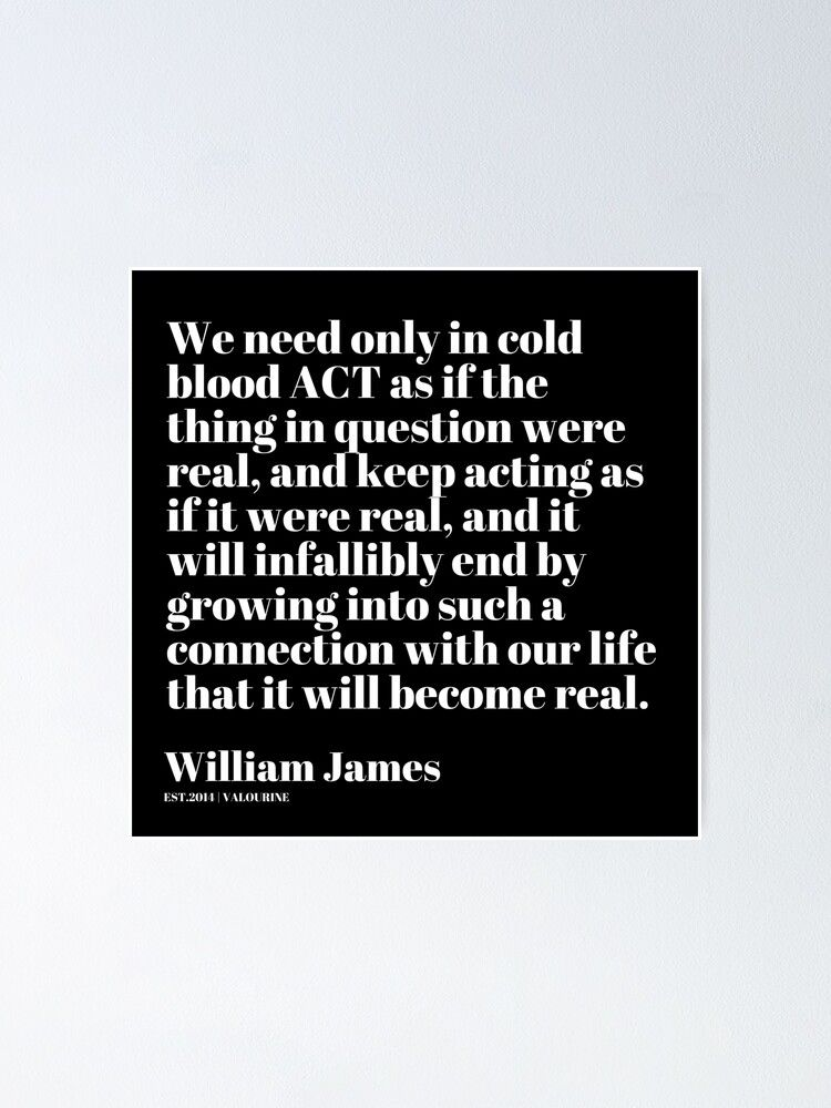 '88  William James Quote| 201025 Father of Psychology Quote ' Poster by valourine