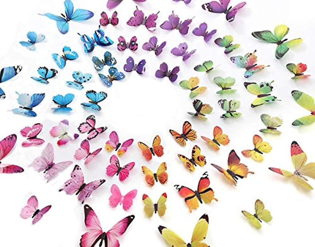 Eoorau 60pcs Butterfly Wall Decor For Wall 3d Butterflies Wall