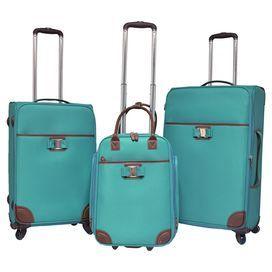 60c2719304d19f 3-Piece Jordan Rolling Luggage Set in Mint