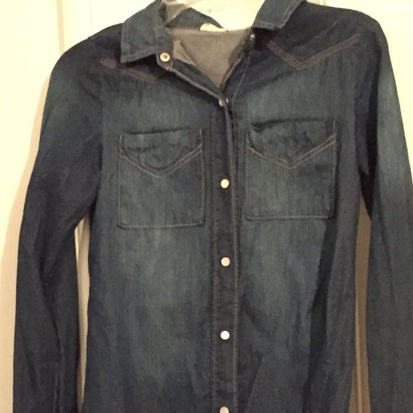 Dark jeans jacket This is a Mudd dark jean jacket. It has only been used once. Mudd Jackets & Coats Jean Jackets
