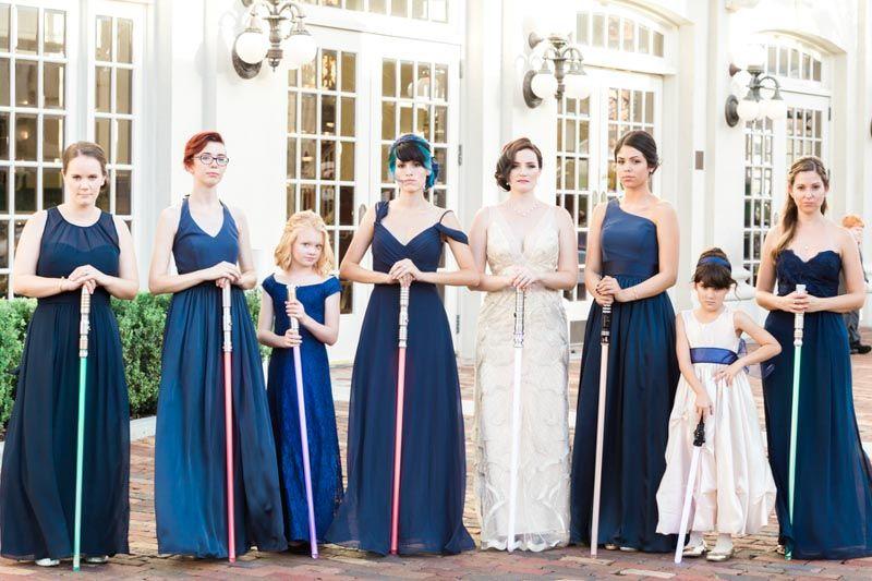 Gatsby Meets Star Wars Wedding Orange Blossom Bride Star Wars Wedding Dress Star Wars Wedding Star Wars Wedding Theme