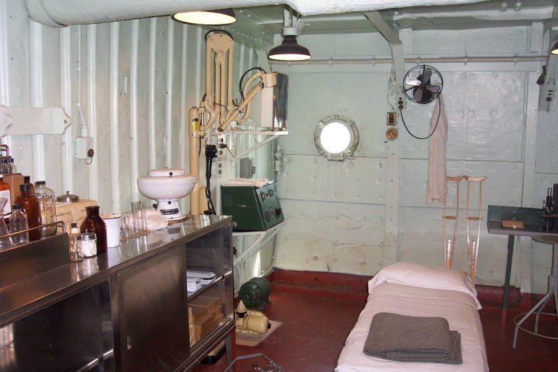2nd Deck Starboard Side, Dispensary    Battleship USS Texas BB-35