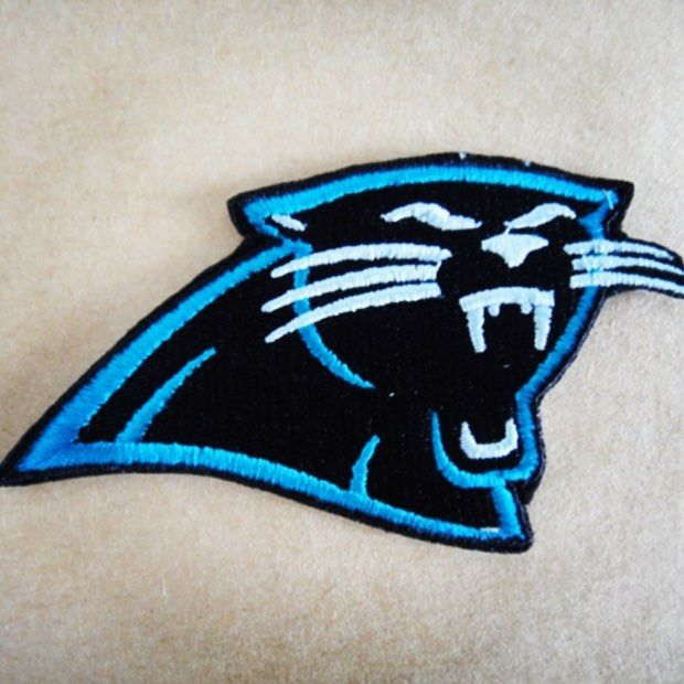 on sale a3c72 ddbc7 Panthers Embroidered Logo | Carolina panthers | Panthers ...